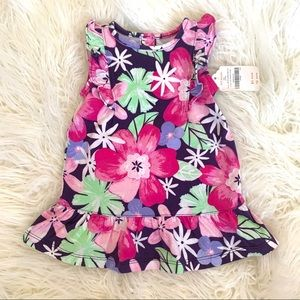 Gymboree baby girl floral dress w diaper cover NWT
